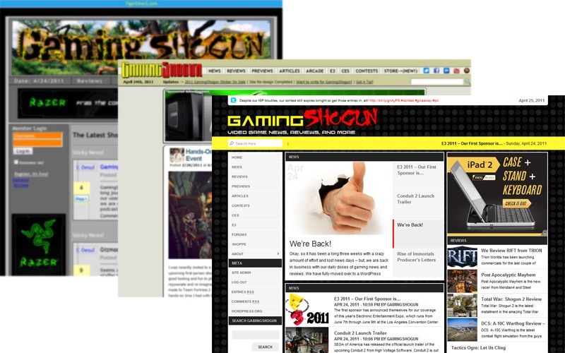 Evolution of GamingShogun.com