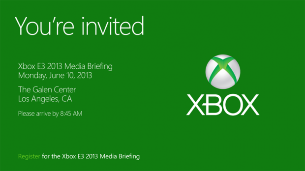 Micrsoft Sends out Invites to E3 2013 Event