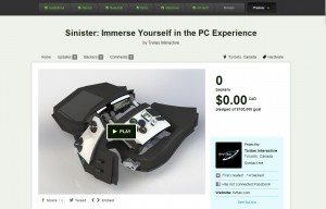 Sinister Haptic Feedback PC Game Controller on Kickstarter