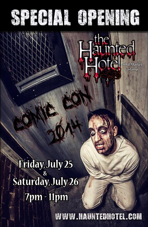 The Haunted Hotel Open for San Diego Comic-Con