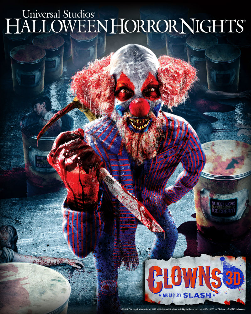 Clowns 3D Music by SLASH Announced for Halloween Horror Nights ...