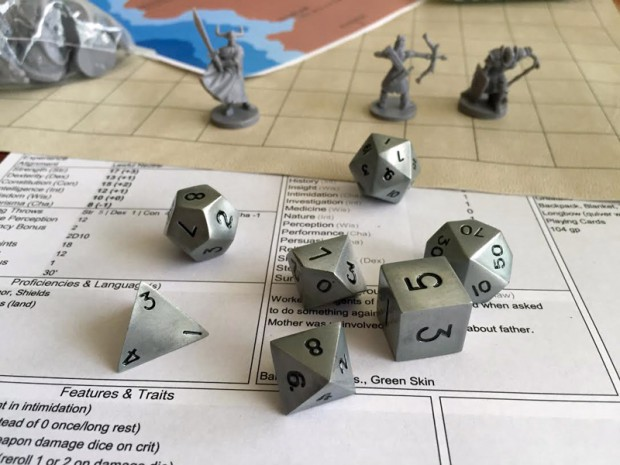 Norse Foundry Aged Mithral 7 Piece RPG Metal Dice Set Review