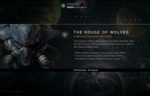 Destiny Expansion II: House of Wolves Prologue
