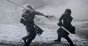 Game of Thrones Jon Snow vs White Walker Swordfight