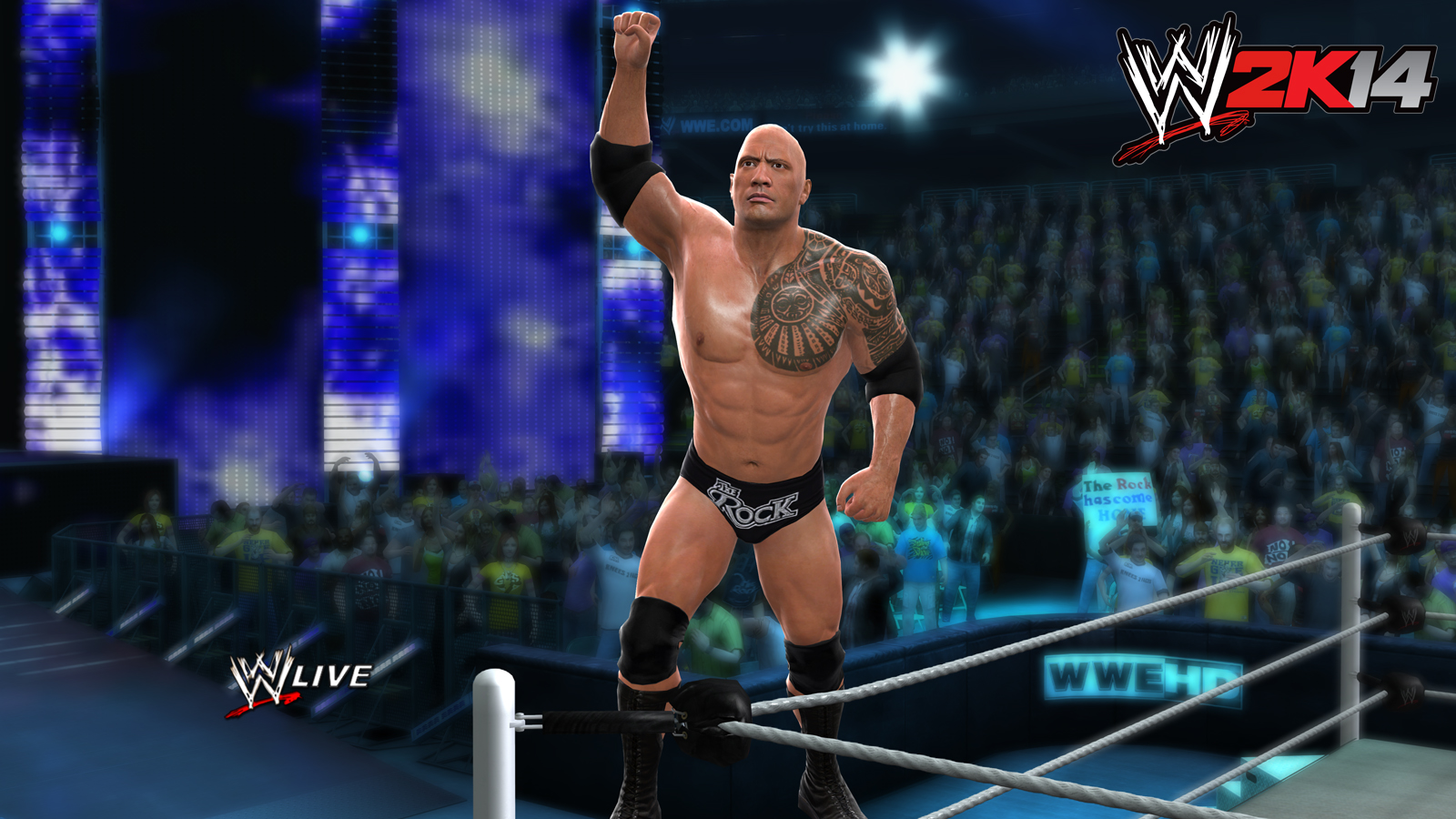 new wwe 2k14 screenshots featuring cover athlete the rock | gamingshogun
