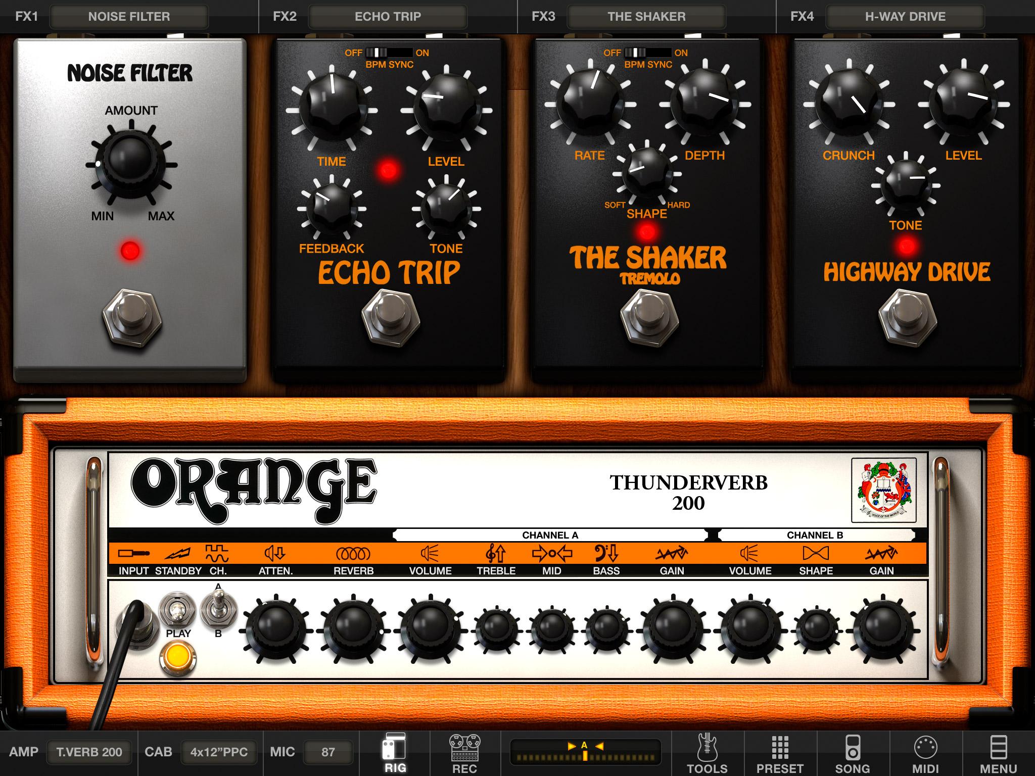 ik multimedia launches amplitube orange for ios gamingshogun. Black Bedroom Furniture Sets. Home Design Ideas
