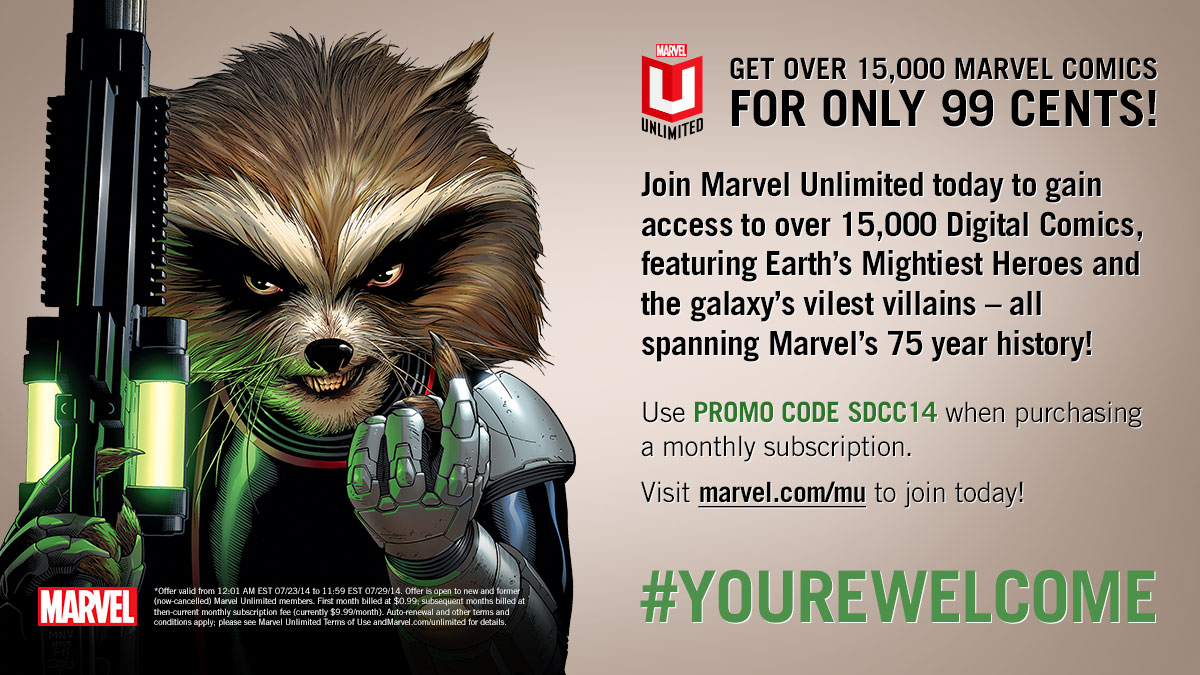 marvel unlimited only 99 cents with comic con code gamingshogun