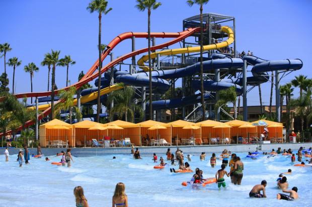 Knott's Soak City Wave Pool and Speed Slides
