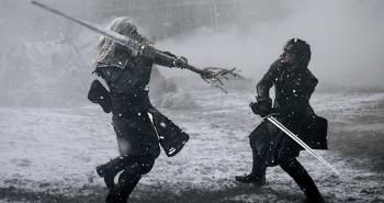 Game of Thrones Jon Snow vs White Walker Swordfight