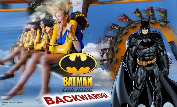 Batman the Ride Backwards Promo Art