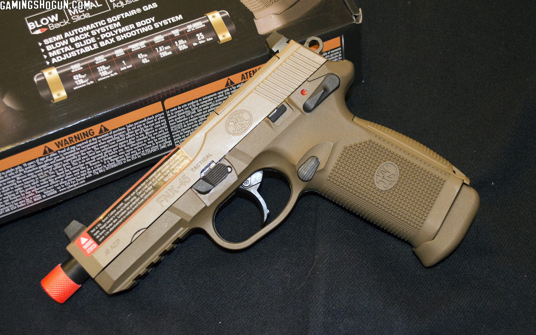 Fn Herstal Fnx 45 Tactical Airsoft Gas Blowback Pistol By Cybergun Review